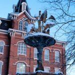 Memorial Mall Fountain (Winter)