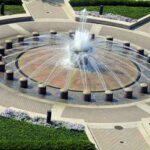 Loeb Fountain Aerial Photo