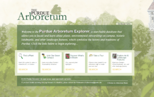 Home Page of the Purdue Arboretum Explorer System