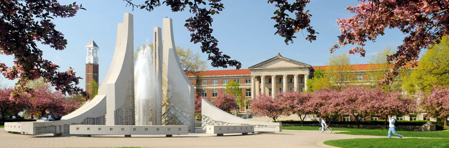 Engineering Fountain in Spring