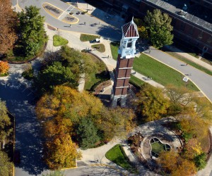 Purdue Bell Tower Aerial Photo