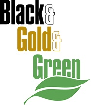 Purdue Black Gold and Green Logo