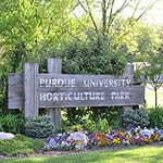 Purdue Horticulture Park Sign