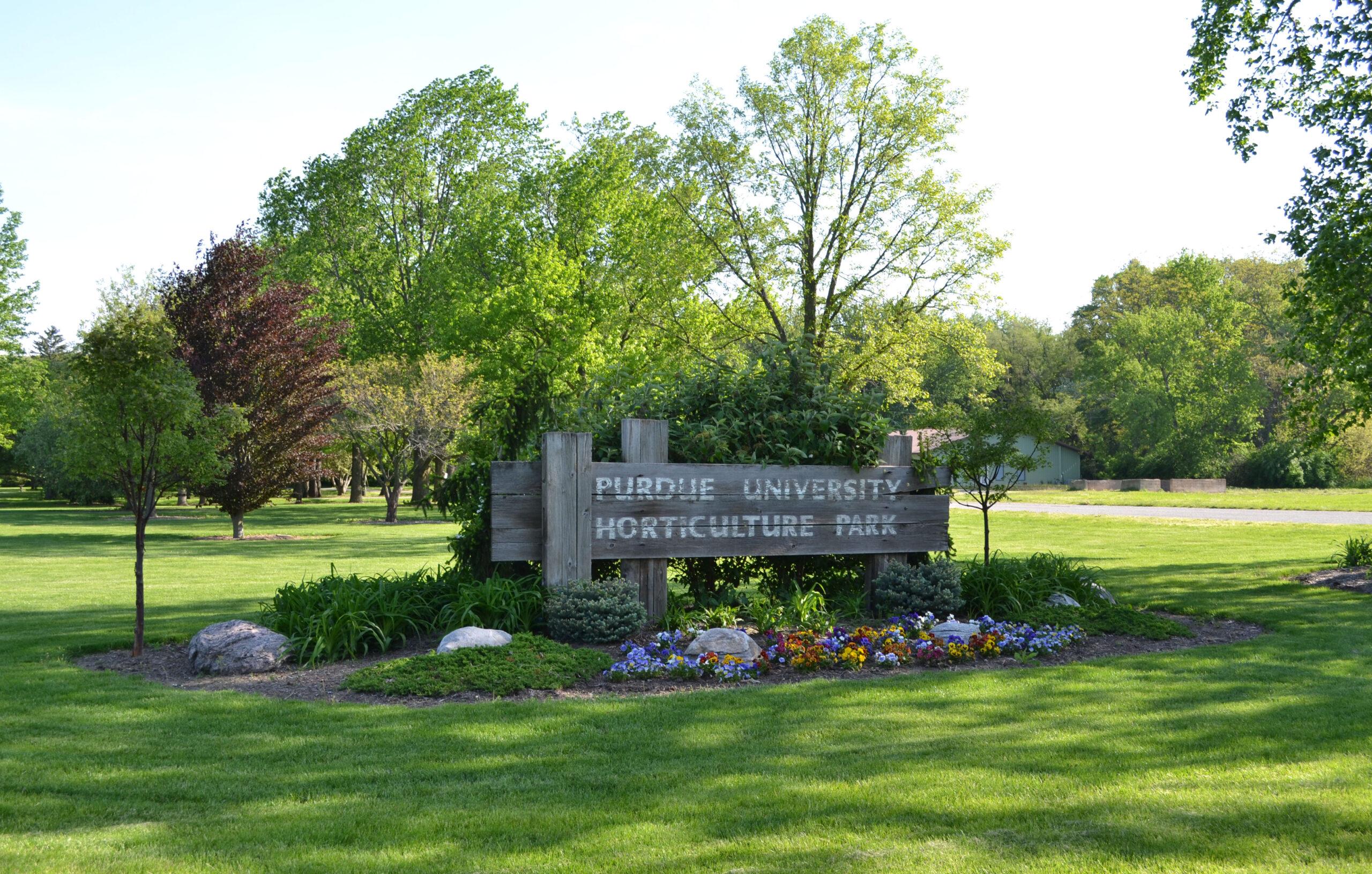 Horticulture Park Entrance Sign on West State Street