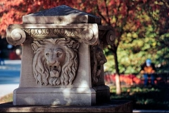 The Lions fountain is actually drinking fountain donated by the Class of 1903.