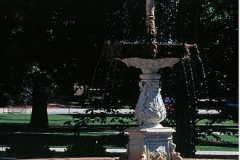 An ornate fountain located along the western edge of the Memorial Mall. The fountain was donated by the Class of 1894.